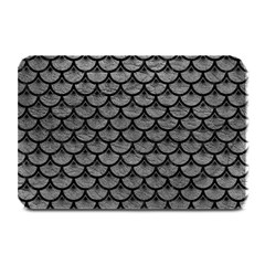 Scales3 Black Marble & Gray Leather (r) Plate Mats