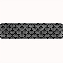 Scales3 Black Marble & Gray Leather (r) Large Bar Mats