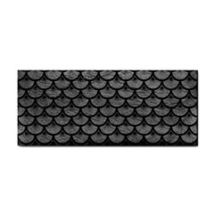 Scales3 Black Marble & Gray Leather (r) Cosmetic Storage Cases