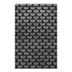 Scales3 Black Marble & Gray Leather (r) Shower Curtain 48  X 72  (small)