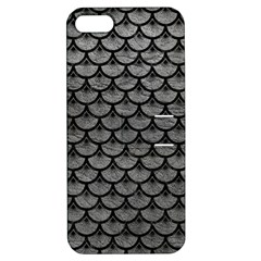 Scales3 Black Marble & Gray Leather (r) Apple Iphone 5 Hardshell Case With Stand