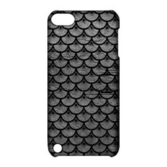 Scales3 Black Marble & Gray Leather (r) Apple Ipod Touch 5 Hardshell Case With Stand