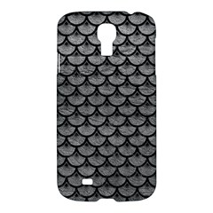 Scales3 Black Marble & Gray Leather (r) Samsung Galaxy S4 I9500/i9505 Hardshell Case