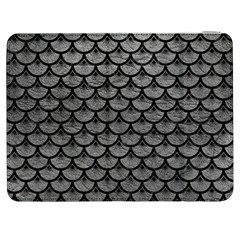 Scales3 Black Marble & Gray Leather (r) Samsung Galaxy Tab 7  P1000 Flip Case
