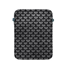 Scales3 Black Marble & Gray Leather (r) Apple Ipad 2/3/4 Protective Soft Cases