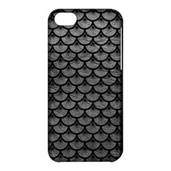Scales3 Black Marble & Gray Leather (r) Apple Iphone 5c Hardshell Case