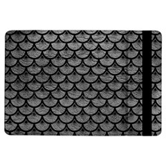 Scales3 Black Marble & Gray Leather (r) Ipad Air Flip