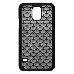 Scales3 Black Marble & Gray Leather (r) Samsung Galaxy S5 Case (black)