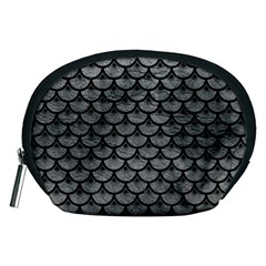 Scales3 Black Marble & Gray Leather (r) Accessory Pouches (medium)