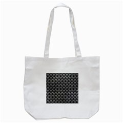 Scales3 Black Marble & Gray Leather (r) Tote Bag (white)