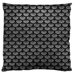 Scales3 Black Marble & Gray Leather (r) Standard Flano Cushion Case (two Sides)