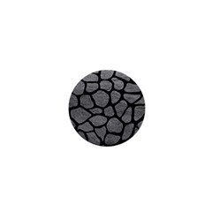 Skin1 Black Marble & Gray Leather 1  Mini Magnets