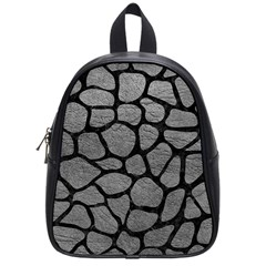 Skin1 Black Marble & Gray Leather School Bag (small)