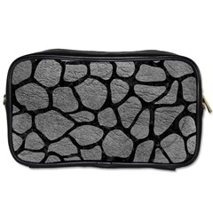 Skin1 Black Marble & Gray Leather Toiletries Bags