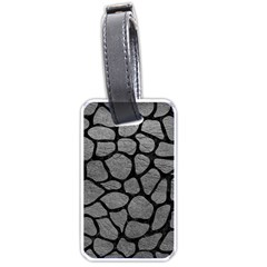 Skin1 Black Marble & Gray Leather Luggage Tags (two Sides)