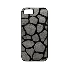 Skin1 Black Marble & Gray Leather Apple Iphone 5 Classic Hardshell Case (pc+silicone)