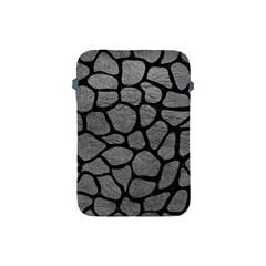 Skin1 Black Marble & Gray Leather Apple Ipad Mini Protective Soft Cases