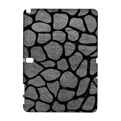 Skin1 Black Marble & Gray Leather Galaxy Note 1