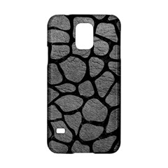 Skin1 Black Marble & Gray Leather Samsung Galaxy S5 Hardshell Case