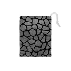 Skin1 Black Marble & Gray Leather Drawstring Pouches (small)