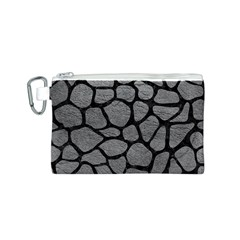 Skin1 Black Marble & Gray Leather Canvas Cosmetic Bag (s)