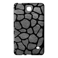 Skin1 Black Marble & Gray Leather Samsung Galaxy Tab 4 (7 ) Hardshell Case