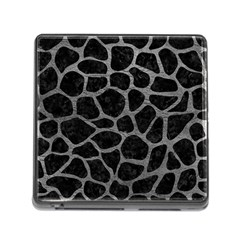 Skin1 Black Marble & Gray Leather (r) Memory Card Reader (square)