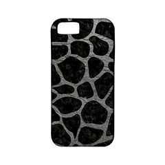 Skin1 Black Marble & Gray Leather (r) Apple Iphone 5 Classic Hardshell Case (pc+silicone)