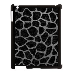 Skin1 Black Marble & Gray Leather (r) Apple Ipad 3/4 Case (black)