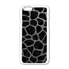Skin1 Black Marble & Gray Leather (r) Apple Iphone 6/6s White Enamel Case