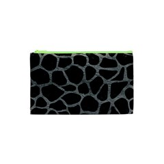 Skin1 Black Marble & Gray Leather (r) Cosmetic Bag (xs)