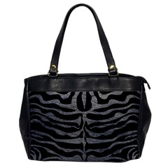 Skin2 Black Marble & Gray Leather Office Handbags