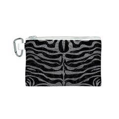 Skin2 Black Marble & Gray Leather Canvas Cosmetic Bag (s)