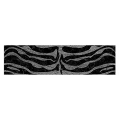 Skin2 Black Marble & Gray Leather Satin Scarf (oblong)