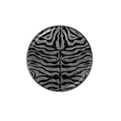 Skin2 Black Marble & Gray Leather (r) Hat Clip Ball Marker (10 Pack)