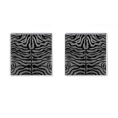 Skin2 Black Marble & Gray Leather (r) Cufflinks (square)