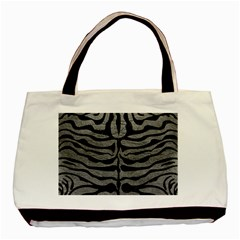 Skin2 Black Marble & Gray Leather (r) Basic Tote Bag