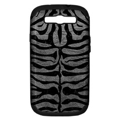 Skin2 Black Marble & Gray Leather (r) Samsung Galaxy S Iii Hardshell Case (pc+silicone)