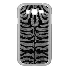 Skin2 Black Marble & Gray Leather (r) Samsung Galaxy Grand Duos I9082 Case (white)