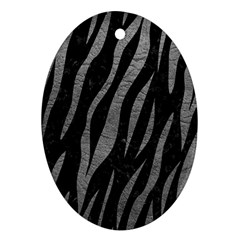 Skin3 Black Marble & Gray Leather Ornament (oval)