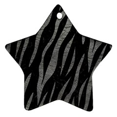 Skin3 Black Marble & Gray Leather Ornament (star)