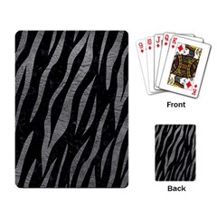 Skin3 Black Marble & Gray Leather Playing Card