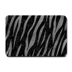 Skin3 Black Marble & Gray Leather Small Doormat