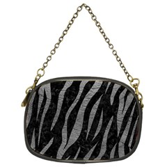 Skin3 Black Marble & Gray Leather Chain Purses (two Sides)