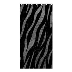 Skin3 Black Marble & Gray Leather Shower Curtain 36  X 72  (stall)
