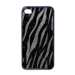 Skin3 Black Marble & Gray Leather Apple Iphone 4 Case (black)