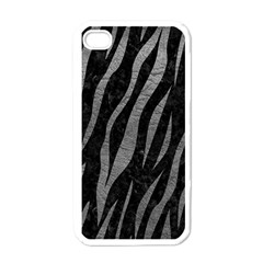 Skin3 Black Marble & Gray Leather Apple Iphone 4 Case (white)