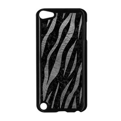 Skin3 Black Marble & Gray Leather Apple Ipod Touch 5 Case (black)