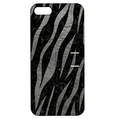 Skin3 Black Marble & Gray Leather Apple Iphone 5 Hardshell Case With Stand