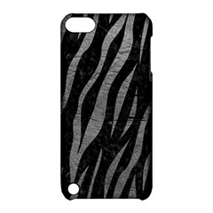 Skin3 Black Marble & Gray Leather Apple Ipod Touch 5 Hardshell Case With Stand